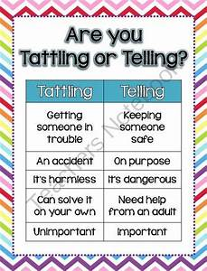 Art you Tattling or Telling poster image