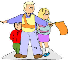 crossing guard with children clip art